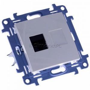 Simon 10 C61.01/11 - Gniazdo komputerowe pojedyncze RJ45 kat. 6 - Biały - Podgląd zdjęcia 360st. nr 1