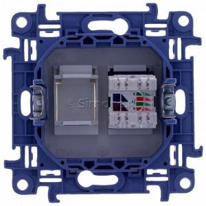 Simon 10 C61.01/11 - Gniazdo komputerowe pojedyncze RJ45 kat. 6 - Biały - Podgląd zdjęcia 360st. nr 9