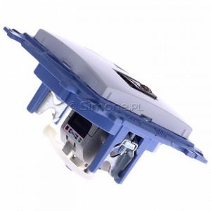 Simon 10 C61E.01/11 - Gniazdo komputerowe pojedyncze RJ45 kat. 6 ekranowane - Biały - Podgląd zdjęcia 360st. nr 3