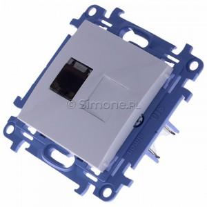Simon 10 C61E.01/11 - Gniazdo komputerowe pojedyncze RJ45 kat. 6 ekranowane - Biały - Podgląd zdjęcia 360st. nr 7