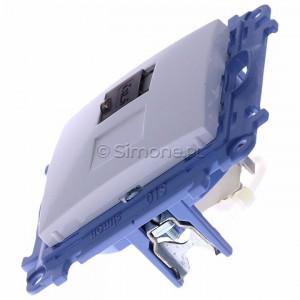 Simon 10 C61E.01/11 - Gniazdo komputerowe pojedyncze RJ45 kat. 6 ekranowane - Biały - Podgląd zdjęcia 360st. nr 6