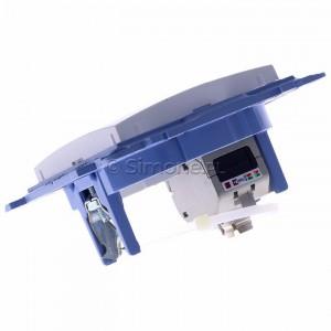 Simon 10 C61E.01/11 - Gniazdo komputerowe pojedyncze RJ45 kat. 6 ekranowane - Biały - Podgląd zdjęcia 360st. nr 5