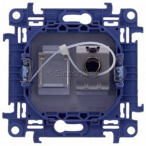 Simon 10 C61E.01/11 - Gniazdo komputerowe pojedyncze RJ45 kat. 6 ekranowane - Biały - Podgląd zdjęcia 360st. nr 9