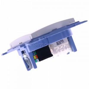 Simon 10 C6T.01/11 - Gniazdo komputerowe RJ45 kategoria kat. 6e + gniazdo telefoniczne RJ12 - Biały - Podgląd zdjęcia 360st. nr 5