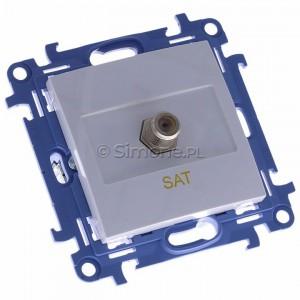 Simon 10 CASF1.01/11 - Gniazdo antenowe SAT pojedyncze - Biały - Podgląd zdjęcia 360st. nr 1