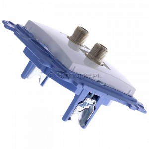 Simon 10 CASF2.01/11 - Gniazdo antenowe SAT podwójne - Biały - Podgląd zdjęcia 360st. nr 3