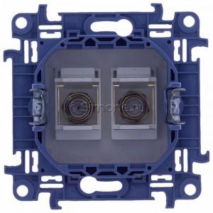 Simon 10 CASF2.01/11 - Gniazdo antenowe SAT podwójne - Biały - Podgląd zdjęcia 360st. nr 9