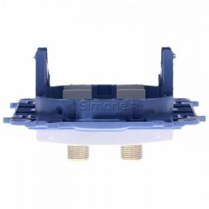 Simon 10 CASF2.01/11 - Gniazdo antenowe SAT podwójne - Biały - Podgląd zdjęcia 360st. nr 8