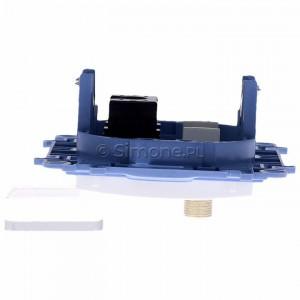 Simon 10 CASFRJ455.01/11 - Gniazdo antenowe SAT pojedyncze + Gniazdo komputerowe kat.6 - Biały - Podgląd zdjęcia 360st. nr 8