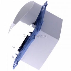 Simon 10 CG2M.01/11 - Gniazdo wtyczkowe podwójne bez uziemienia 16A - Biały - Podgląd zdjęcia 360st. nr 6