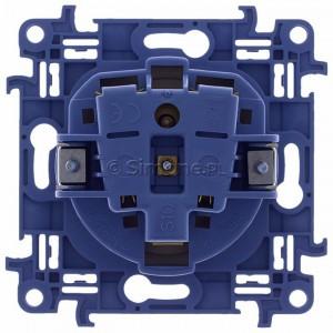 Simon 10 CGZ1.01/41 - Gniazdo wtyczkowe pojedyncze z uziemieniem 16A - Kremowy - Podgląd zdjęcia 360st. nr 9
