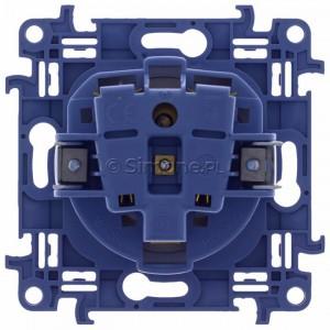 Simon 10 CGZ1Z.01/11 - Gniazdo wtyczkowe pojedyncze z uziemieniem i przesłonami torów prądowych 16A - Biały - Podgląd zdjęcia 360st. nr 9