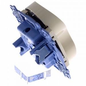 Simon 10 CGZ2MZ.01/41 - Gniazdo wtyczkowe podwójne z uziemieniem i przesłonami torów prądowych 16A - Kremowy - Podgląd zdjęcia 360st. nr 3