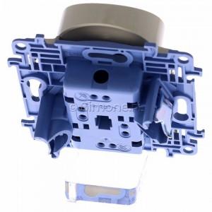 Simon 10 CGZ2MZ.01/41 - Gniazdo wtyczkowe podwójne z uziemieniem i przesłonami torów prądowych 16A - Kremowy - Podgląd zdjęcia 360st. nr 4