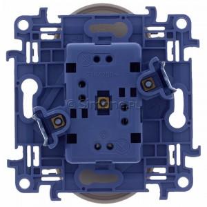 Simon 10 CGZ2MZ.01/41 - Gniazdo wtyczkowe podwójne z uziemieniem i przesłonami torów prądowych 16A - Kremowy - Podgląd zdjęcia 360st. nr 9