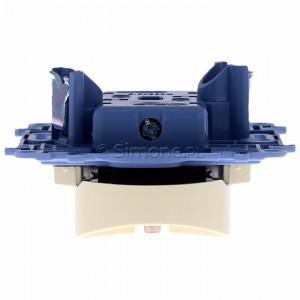 Simon 10 CGZ2MZ.01/41 - Gniazdo wtyczkowe podwójne z uziemieniem i przesłonami torów prądowych 16A - Kremowy - Podgląd zdjęcia 360st. nr 8