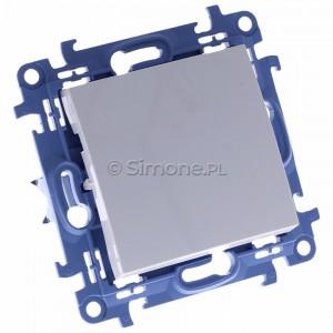 Simon 10 CP1.01/11 - Przycisk pojedynczy zwierny 10A - Biały - Podgląd zdjęcia 360st. nr 1