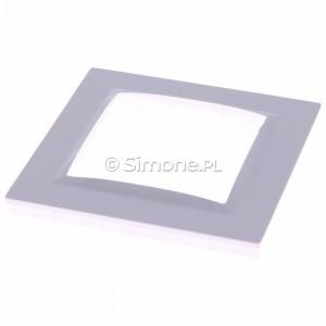 Simon 10 CR1/11 - Ramka pojedyncza - Biały - Podgląd zdjęcia 360st. nr 2