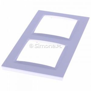 Simon 10 CR2/11 - Ramka podwójna - Biały - Podgląd zdjęcia 360st. nr 2