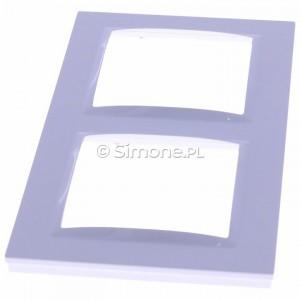 Simon 10 CR2/11 - Ramka podwójna - Biały - Podgląd zdjęcia 360st. nr 6