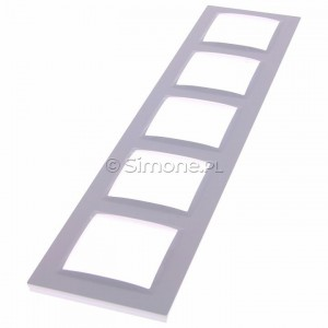 Simon 10 CR5/11 - Ramka pięciokrotna - Biały - Podgląd zdjęcia 360st. nr 2