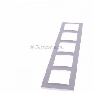 Simon 10 CR5/11 - Ramka pięciokrotna - Biały - Podgląd zdjęcia 360st. nr 6