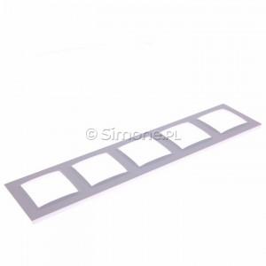 Simon 10 CR5/11 - Ramka pięciokrotna - Biały - Podgląd zdjęcia 360st. nr 5