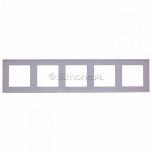 Simon 10 CR5/11 - Ramka pięciokrotna - Biały - Podgląd zdjęcia 360st. nr 9