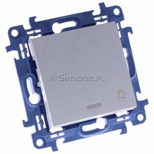 Simon 10 CS1L.01/11 - Przycisk zwierny światło z podświetleniem LED 10A - Biały - Podgląd zdjęcia 360st. nr 1