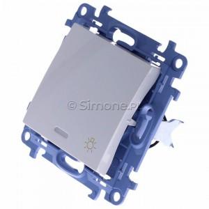 Simon 10 CS1L.01/11 - Przycisk zwierny światło z podświetleniem LED 10A - Biały - Podgląd zdjęcia 360st. nr 7