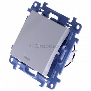 Simon 10 CW1L.01/11 - Łącznik pojedynczy z podświetleniem LED 10A - Biały - Podgląd zdjęcia 360st. nr 7