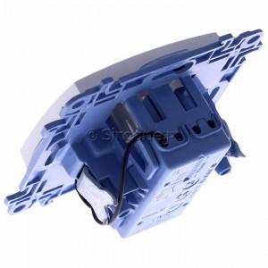Simon 10 CW1L.01/11 - Łącznik pojedynczy z podświetleniem LED 10A - Biały - Podgląd zdjęcia 360st. nr 5