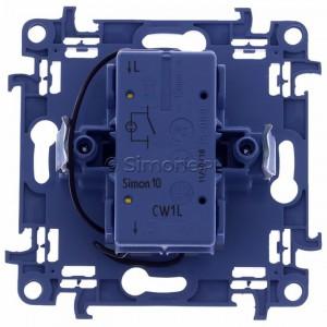 Simon 10 CW1L.01/11 - Łącznik pojedynczy z podświetleniem LED 10A - Biały - Podgląd zdjęcia 360st. nr 9