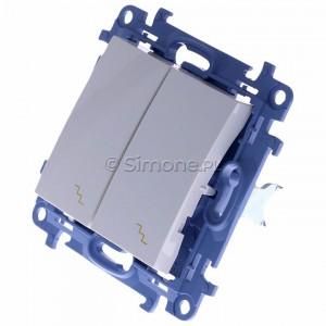 Simon 10 CW6/2.01/11 - Łącznik schodowy podwójny 10A - Biały - Podgląd zdjęcia 360st. nr 7