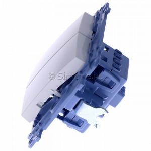 Simon 10 CW6/2.01/11 - Łącznik schodowy podwójny 10A - Biały - Podgląd zdjęcia 360st. nr 6