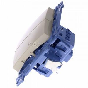 Simon 10 CW6/2.01/41 - Łącznik schodowy podwójny 10A - Kremowy - Podgląd zdjęcia 360st. nr 6