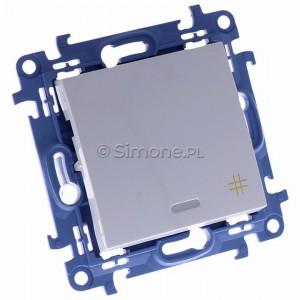 Simon 10 CW7L.01/11 - Łącznik krzyżowy z podświetleniem LED 10A - Biały - Podgląd zdjęcia 360st. nr 1
