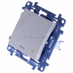 Simon 10 CW7L.01/11 - Łącznik krzyżowy z podświetleniem LED 10A - Biały - Podgląd zdjęcia 360st. nr 7