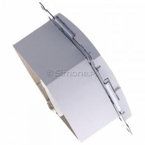 Simon 54 D61E.01/11 - Gniazdo komputerowe pojedyncze RJ45 kat. 6 ekranowane z przesłoną przeciwkurzową - Biały - Podgląd zdjęcia 360st. nr 3