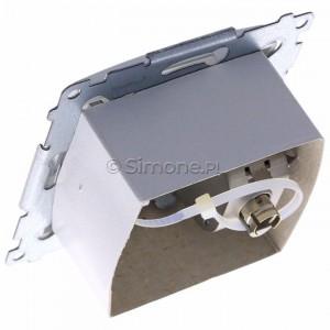 Simon 54 D61E.01/11 - Gniazdo komputerowe pojedyncze RJ45 kat. 6 ekranowane z przesłoną przeciwkurzową - Biały - Podgląd zdjęcia 360st. nr 5