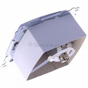 Simon 54 D61E.01/43 - Gniazdo komputerowe pojedyncze RJ45 kat. 6 ekranowane z przesłoną przeciwkurzową - Srebrny Mat - Podgląd zdjęcia 360st. nr 5