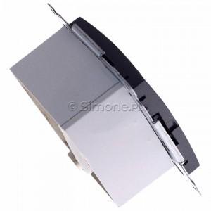 Simon 54 D61E.01/48 - Gniazdo komputerowe pojedyncze RJ45 kat. 6 ekranowane z przesłoną przeciwkurzową - Antracyt - Podgląd zdjęcia 360st. nr 3