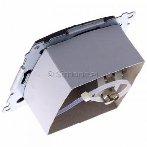 Simon 54 D61E.01/48 - Gniazdo komputerowe pojedyncze RJ45 kat. 6 ekranowane z przesłoną przeciwkurzową - Antracyt - Podgląd zdjęcia 360st. nr 5