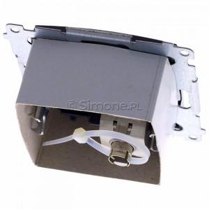 Simon 54 D61E.01/48 - Gniazdo komputerowe pojedyncze RJ45 kat. 6 ekranowane z przesłoną przeciwkurzową - Antracyt - Podgląd zdjęcia 360st. nr 4