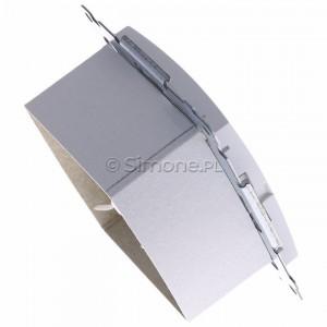 Simon 54 D62.01/11 - Gniazdo komputerowe podwójne 2xRJ45 kat. 6 z przesłoną przeciwkurzową - Biały - Podgląd zdjęcia 360st. nr 3