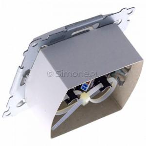 Simon 54 D62.01/11 - Gniazdo komputerowe podwójne 2xRJ45 kat. 6 z przesłoną przeciwkurzową - Biały - Podgląd zdjęcia 360st. nr 5