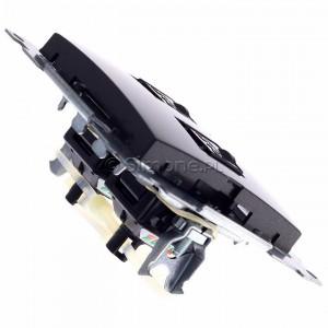 Simon 54 D62.01/48 - Gniazdo komputerowe podwójne 2xRJ45 kat. 6 z przesłoną przeciwkurzową - Antracyt - Podgląd zdjęcia 360st. nr 3