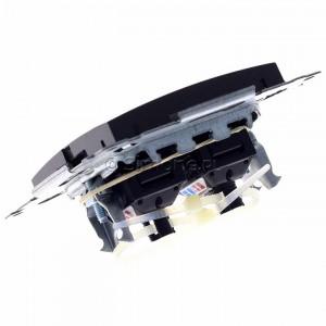 Simon 54 D62.01/48 - Gniazdo komputerowe podwójne 2xRJ45 kat. 6 z przesłoną przeciwkurzową - Antracyt - Podgląd zdjęcia 360st. nr 5