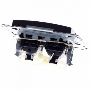 Simon 54 D62.01/48 - Gniazdo komputerowe podwójne 2xRJ45 kat. 6 z przesłoną przeciwkurzową - Antracyt - Podgląd zdjęcia 360st. nr 4