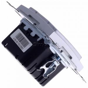 Simon 54 D75310.01/43 - Ściemniacz dwu przyciskowy 40-500W - Srebrny Mat - Podgląd zdjęcia 360st. nr 3